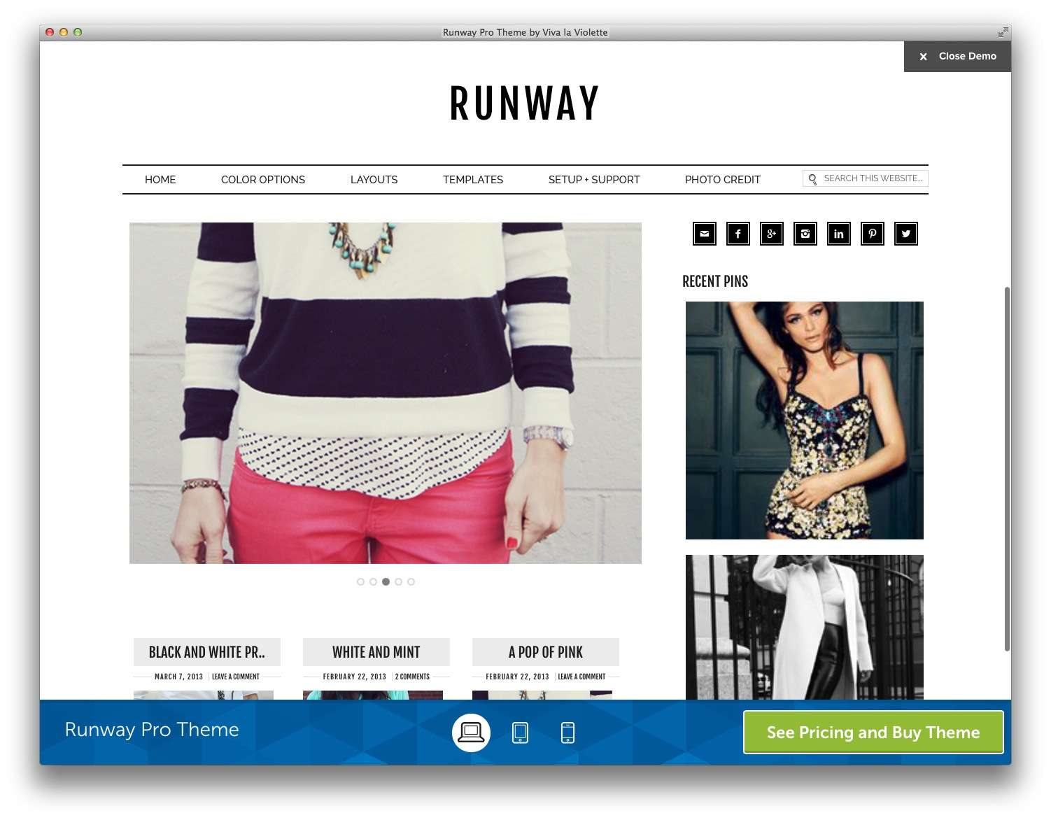 WordPress шаблоны для Fashion блогов и журналов5