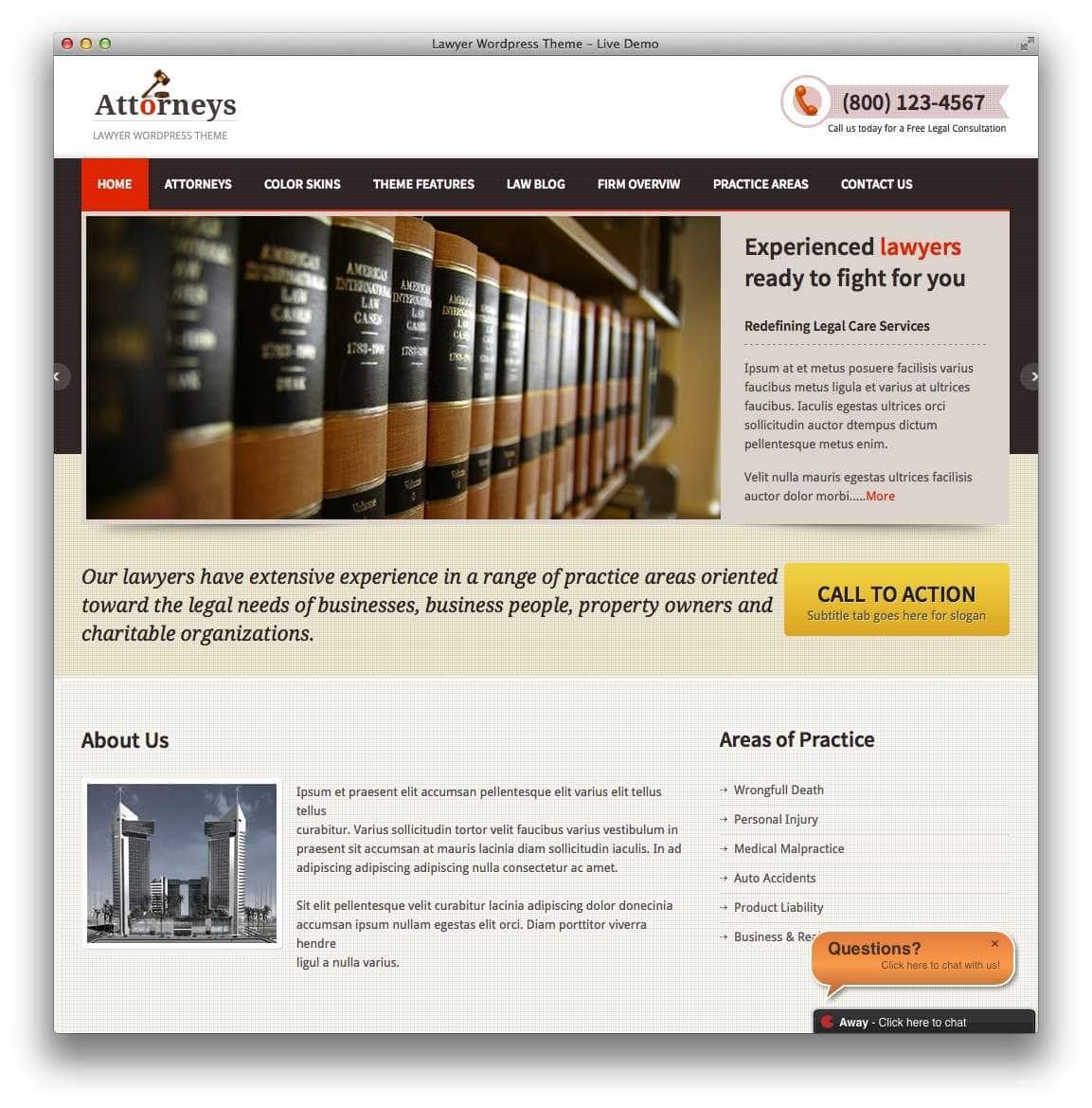 WordPress – Адвокаты и юридическая практика13