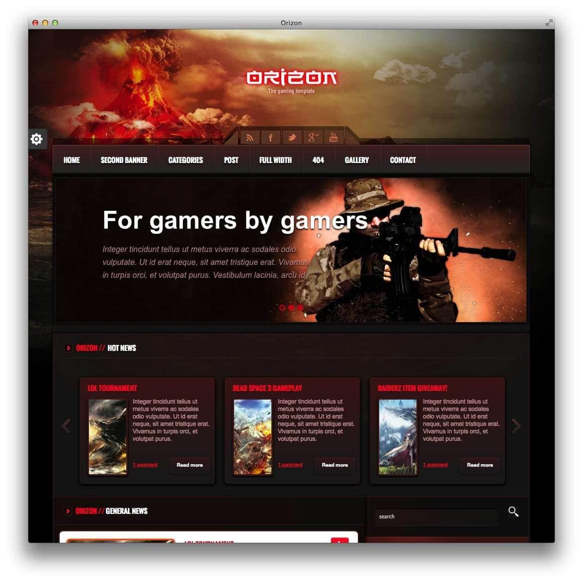 orizon-the-gaming-template