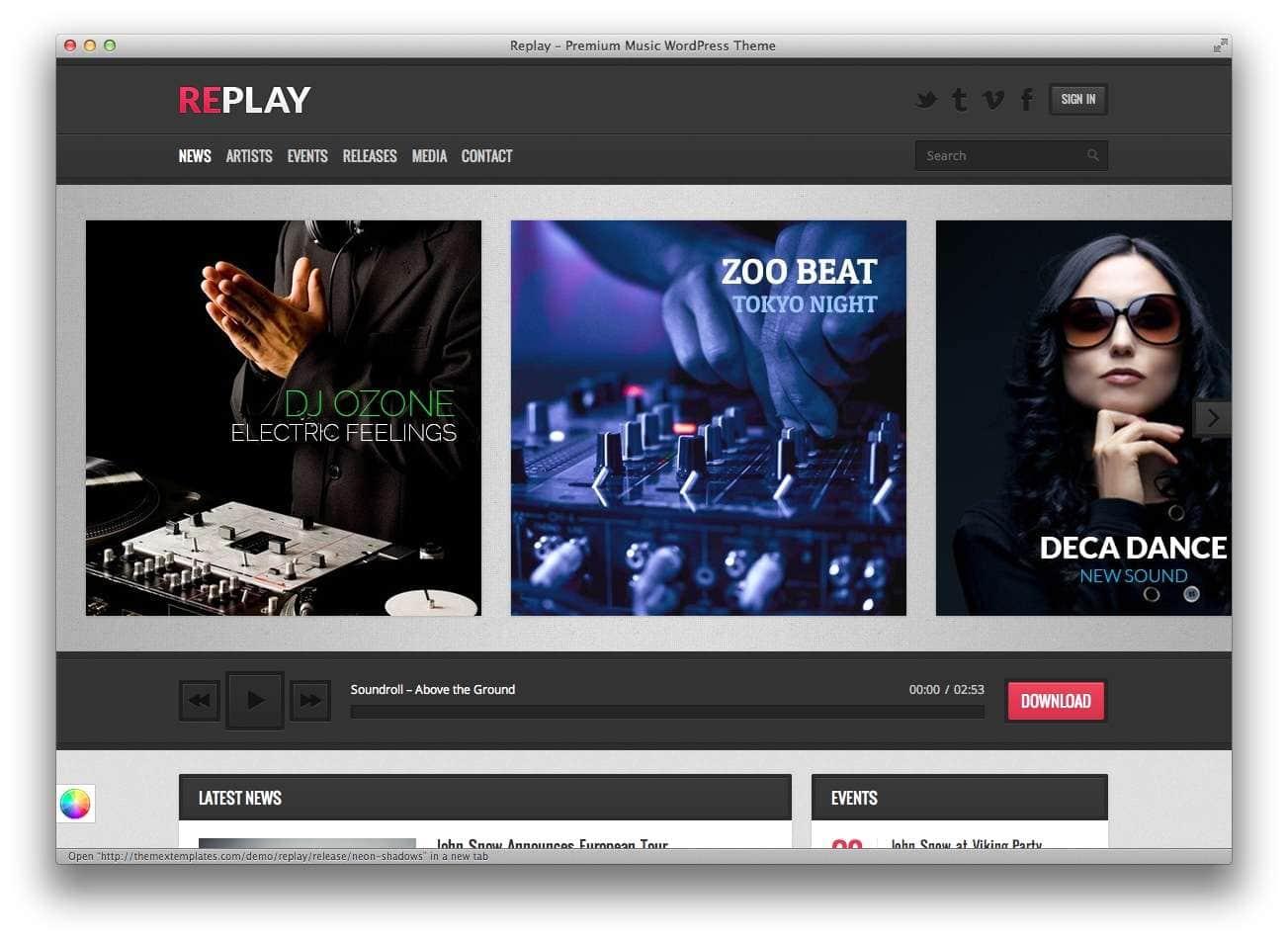 музыкальные темы WordPress2