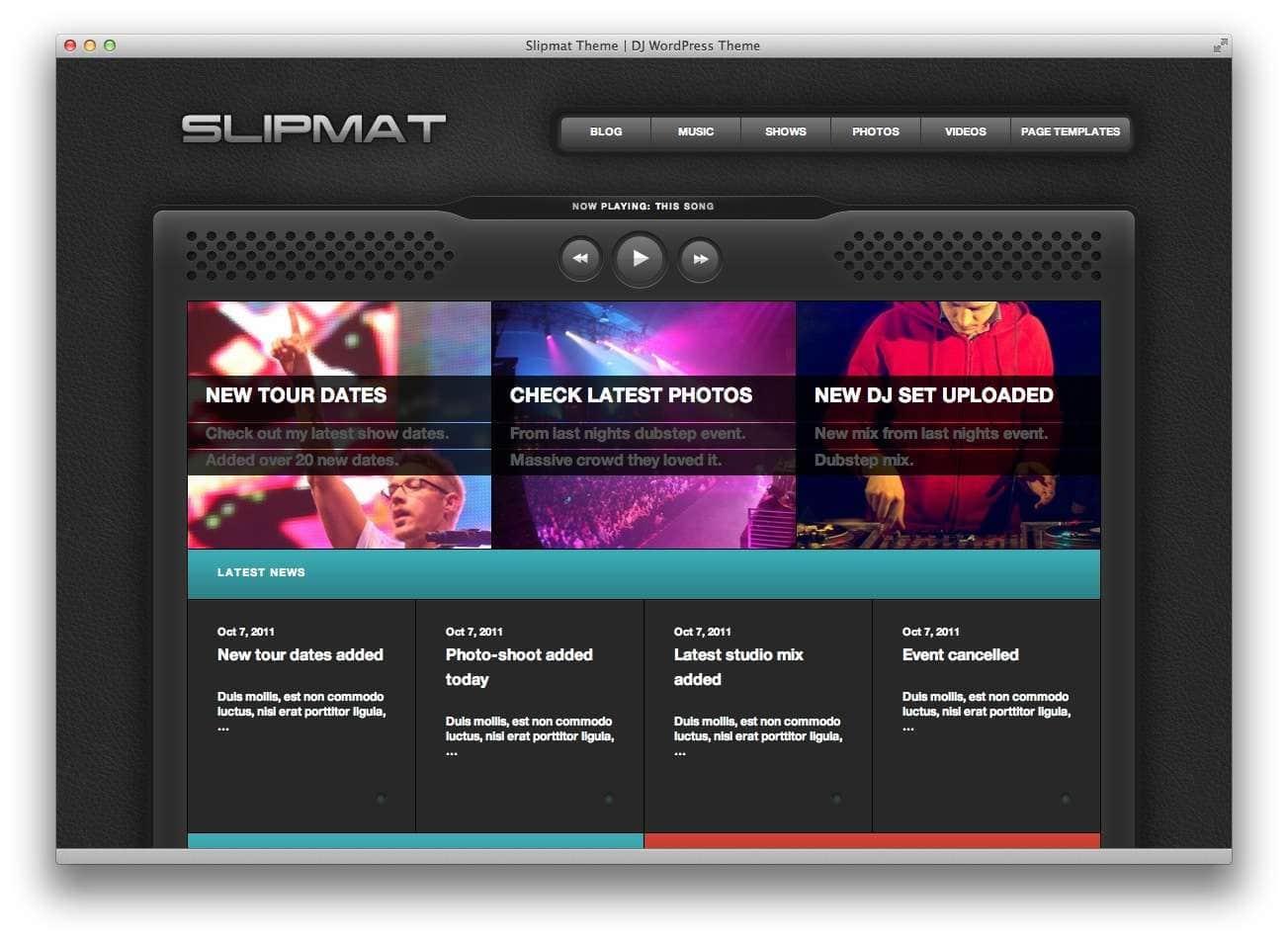 музыкальные темы WordPress26
