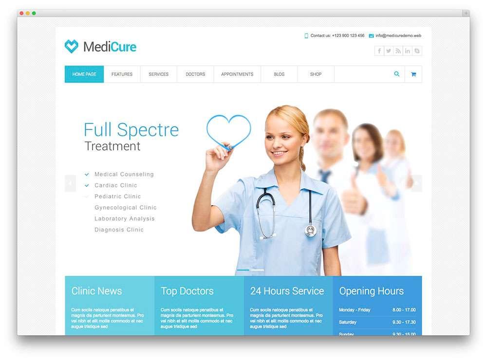 WordPress темы о здоровье 1