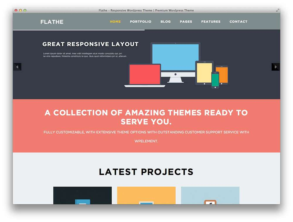flat design wordpress