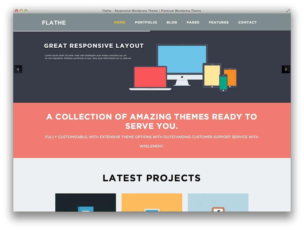 flat design wordpress