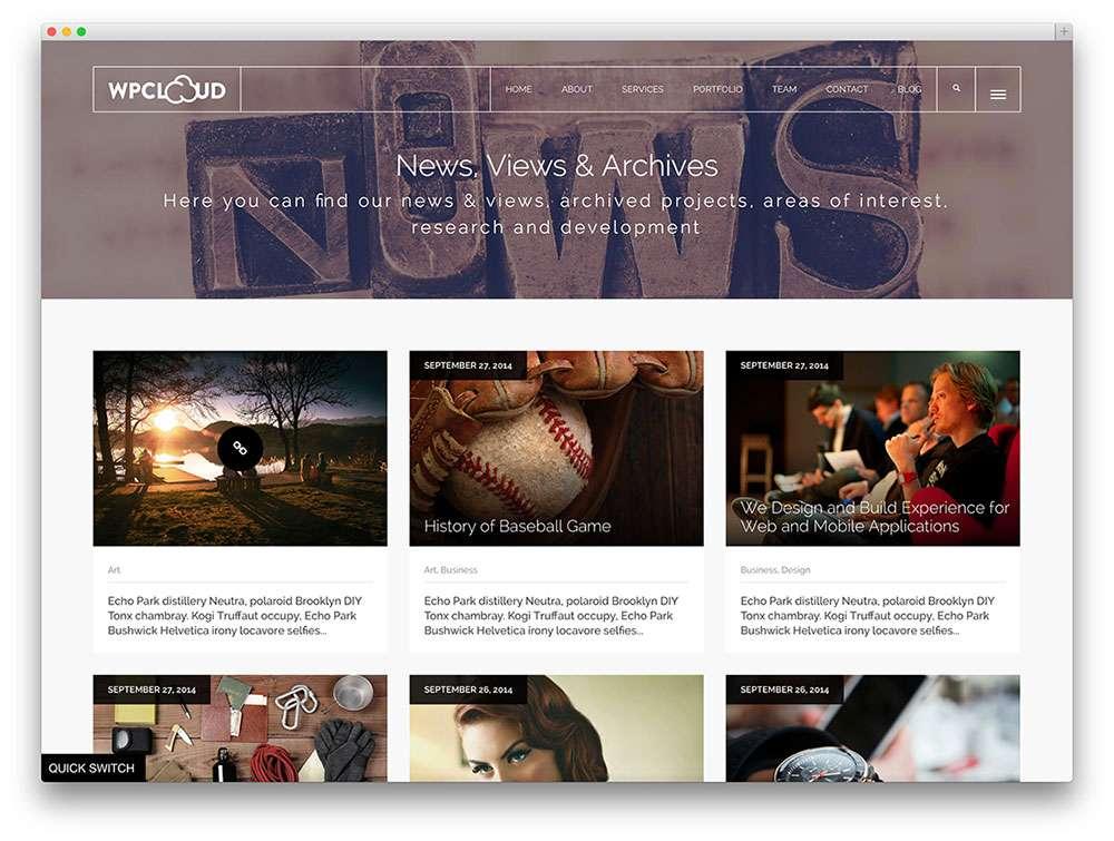 Чистые темы на WordPress 2015