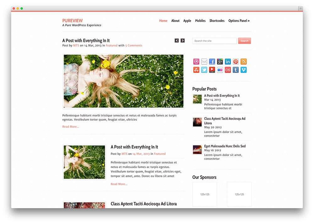 WordPress темы для писателей