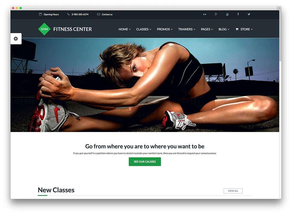 Красивые темы WordPress Спорт