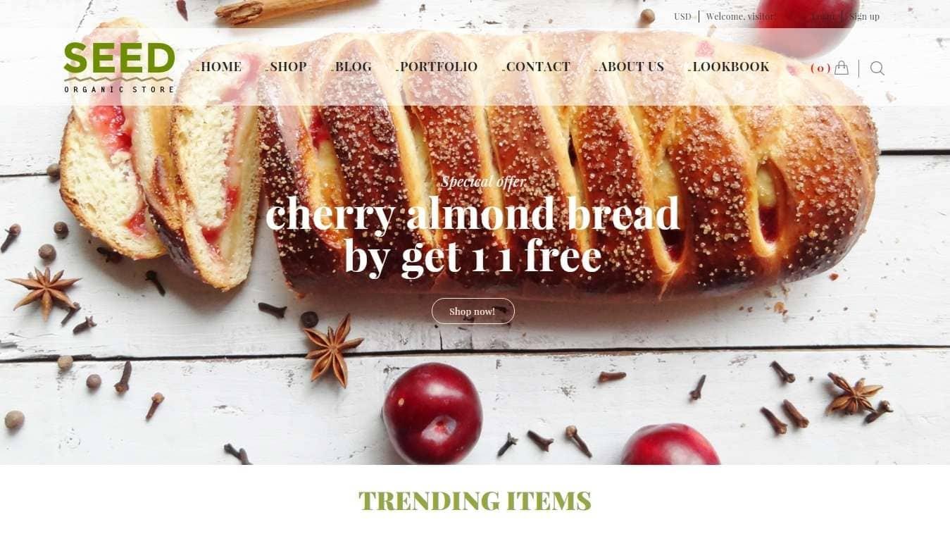 Wordpress интернет магазин для косметики и продуктов