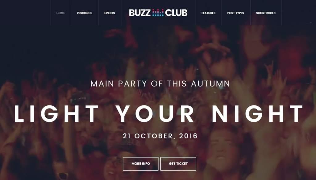 лучшие WordPress шаблоны для клуба-бара-ресторана 2017 06