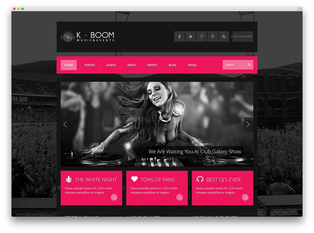 powered by WordPress шаблоны для клуба-бара-ресторана 2015