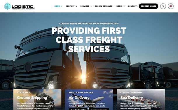 WordPress для логистики и транспорта