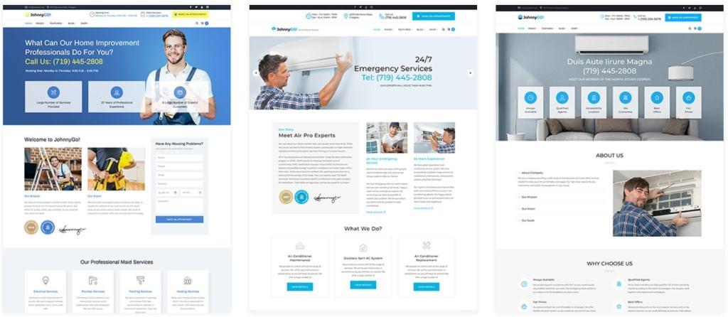 WordPress шаблоны сайта о ремонте с целевым дизайном 01