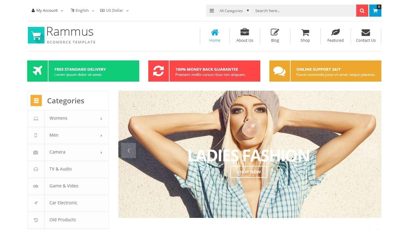 Адаптивный Magento шаблон для магазина одежды