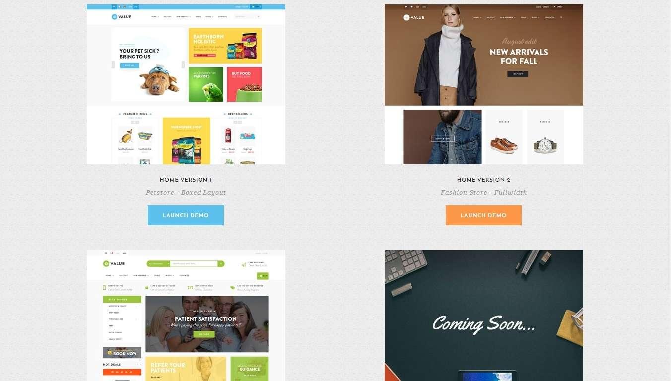 Шаблоны magento для магазина животный, для аптеки, и магазины одежды