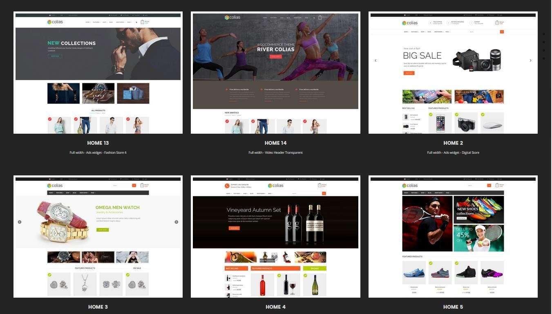 Адаптивные и многоцелевые WooCommerce шаблоны