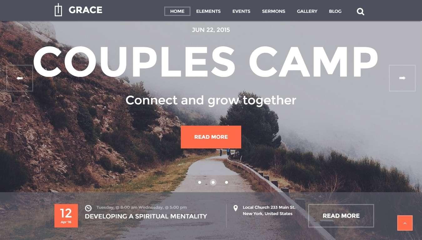 Готовый сайт для церкви- религиозный WordPress шаблон