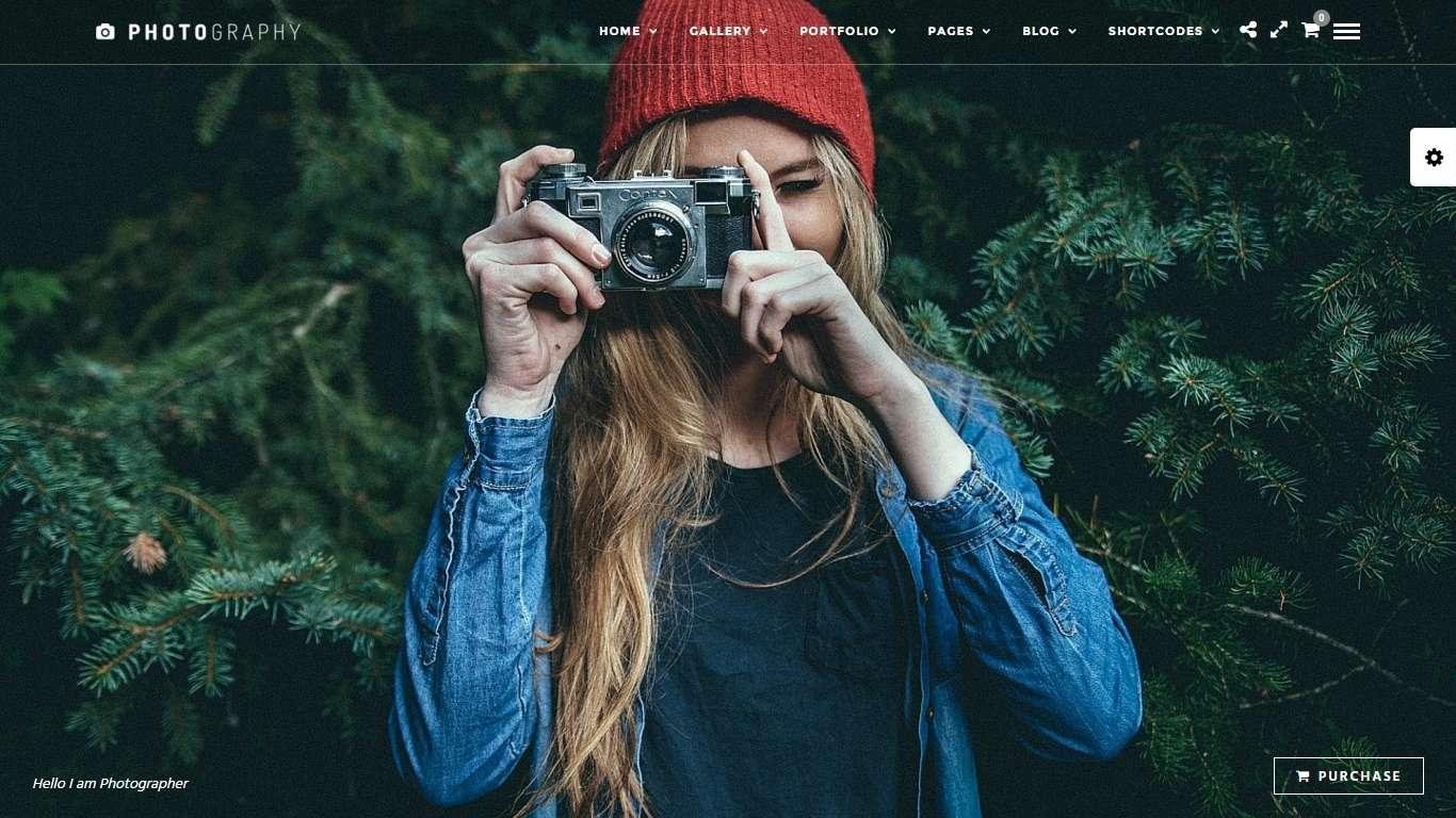 Интерактивный бизнес шаблон wordpress для фотографов