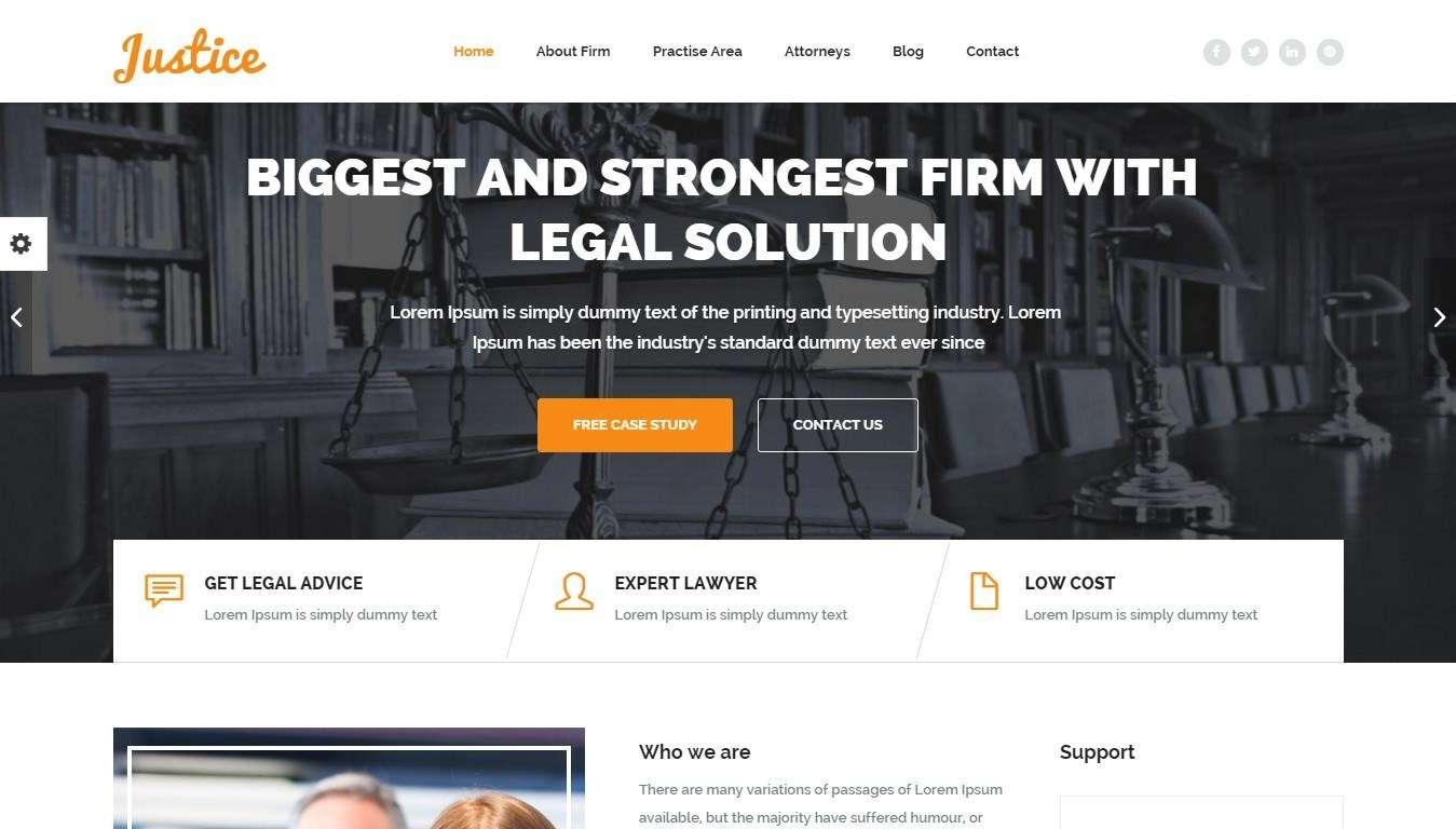 Лучшие WordPress шаблоны юридической фирмы 2016
