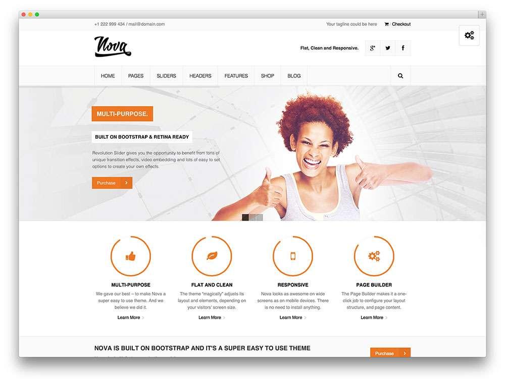 Минимализм в шаблонах WordPress для вашего сайта