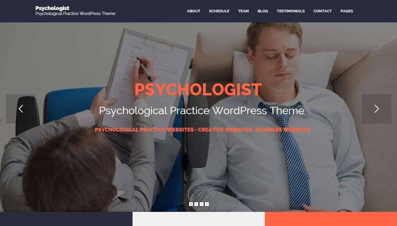 Тема Бизнес шаблон WordPress для Психологов