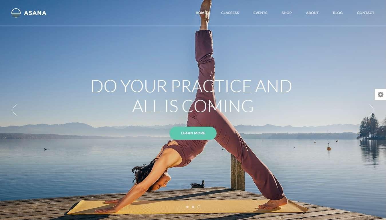 Шаблон сайта wordpress для йоги и другого спорта