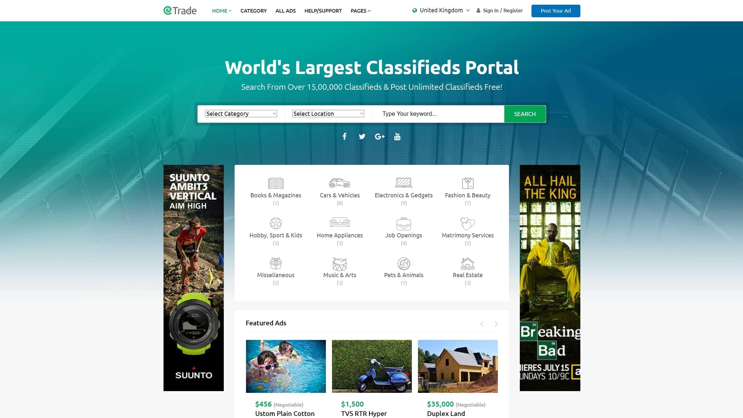 858e36ed2cc6 Лучший шаблон сайта объявлений на WordPress с приемом оплаты