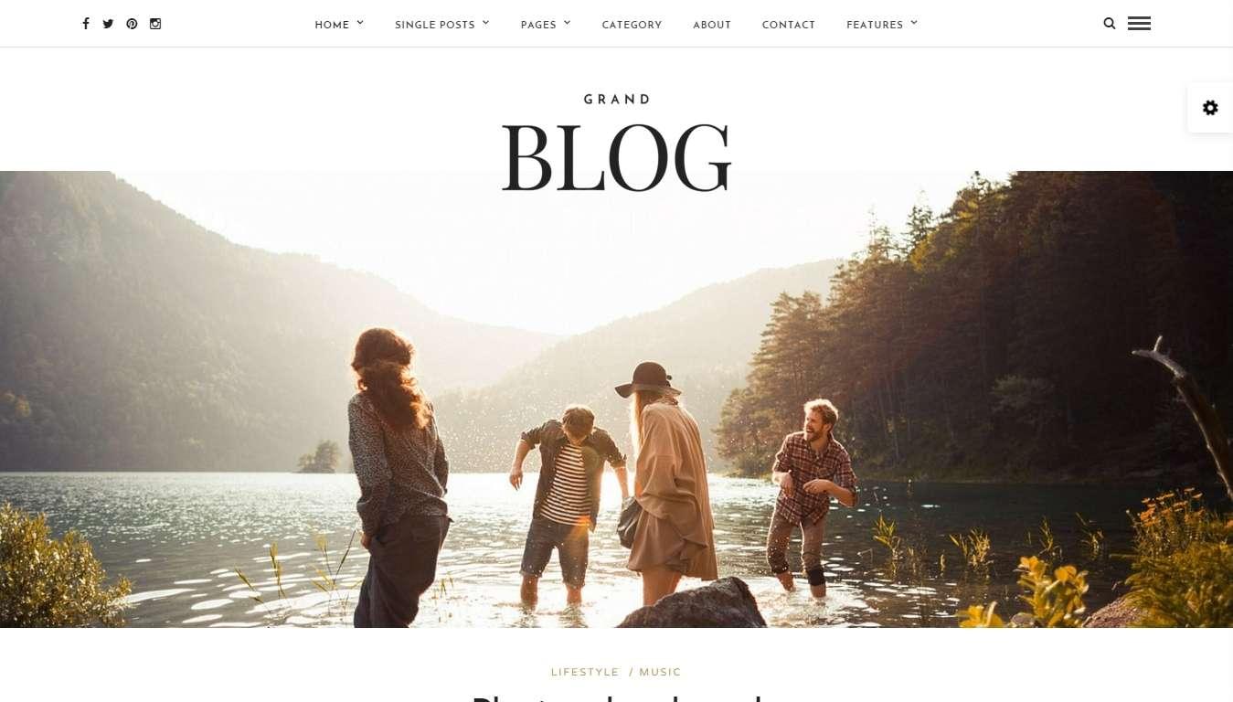 Адаптивный шаблон сайта для блога