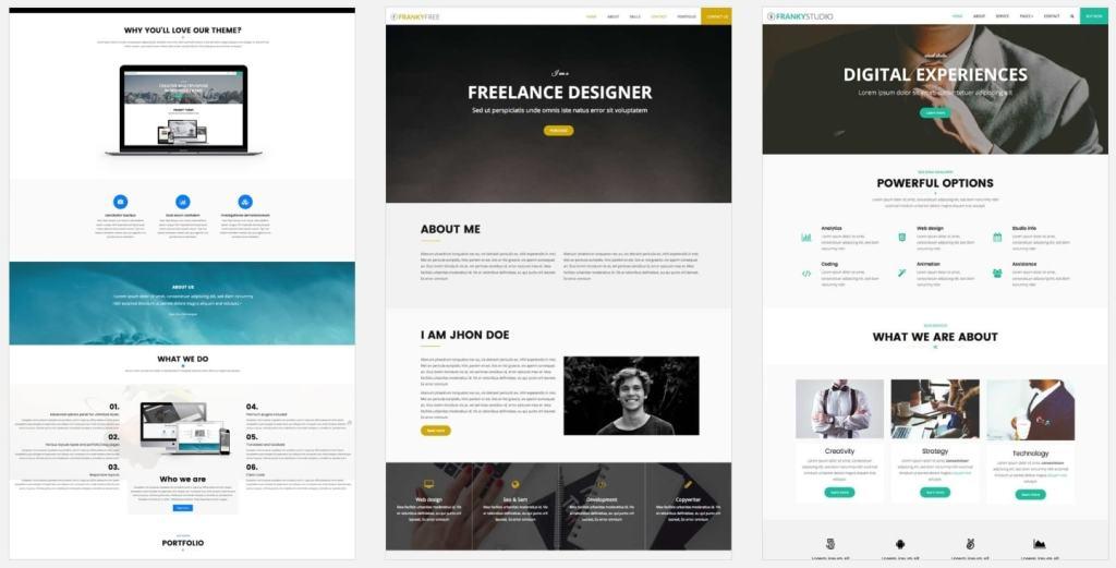 Красивые шаблоны сайтов с эксклюзивным дизайном 02