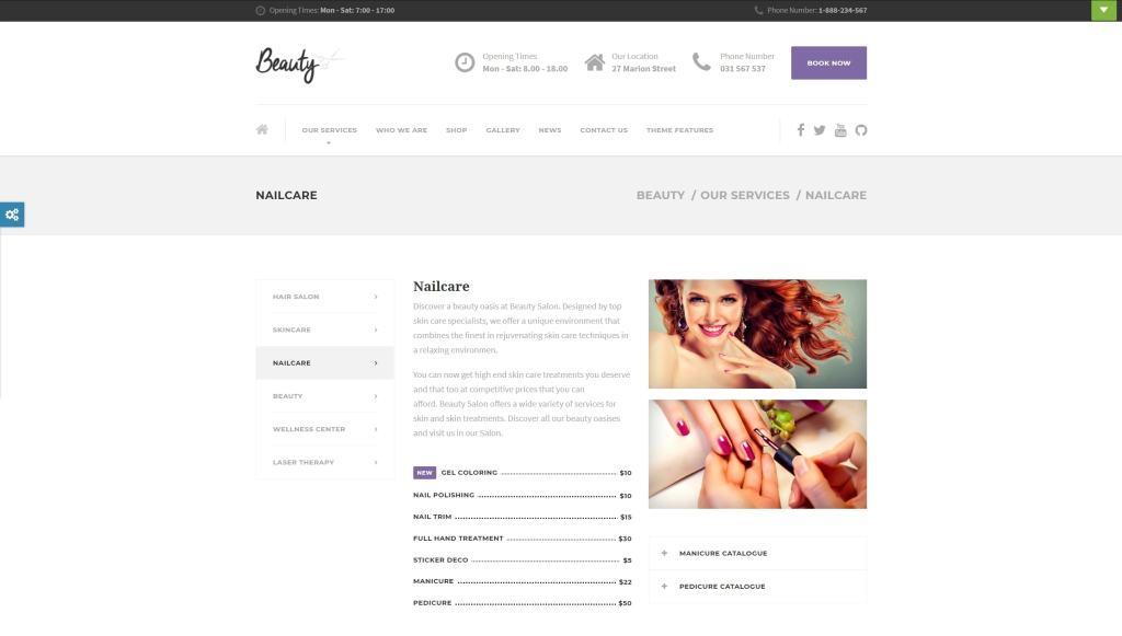 шаблон салона красоты WordPress для адаптивного сайта 22