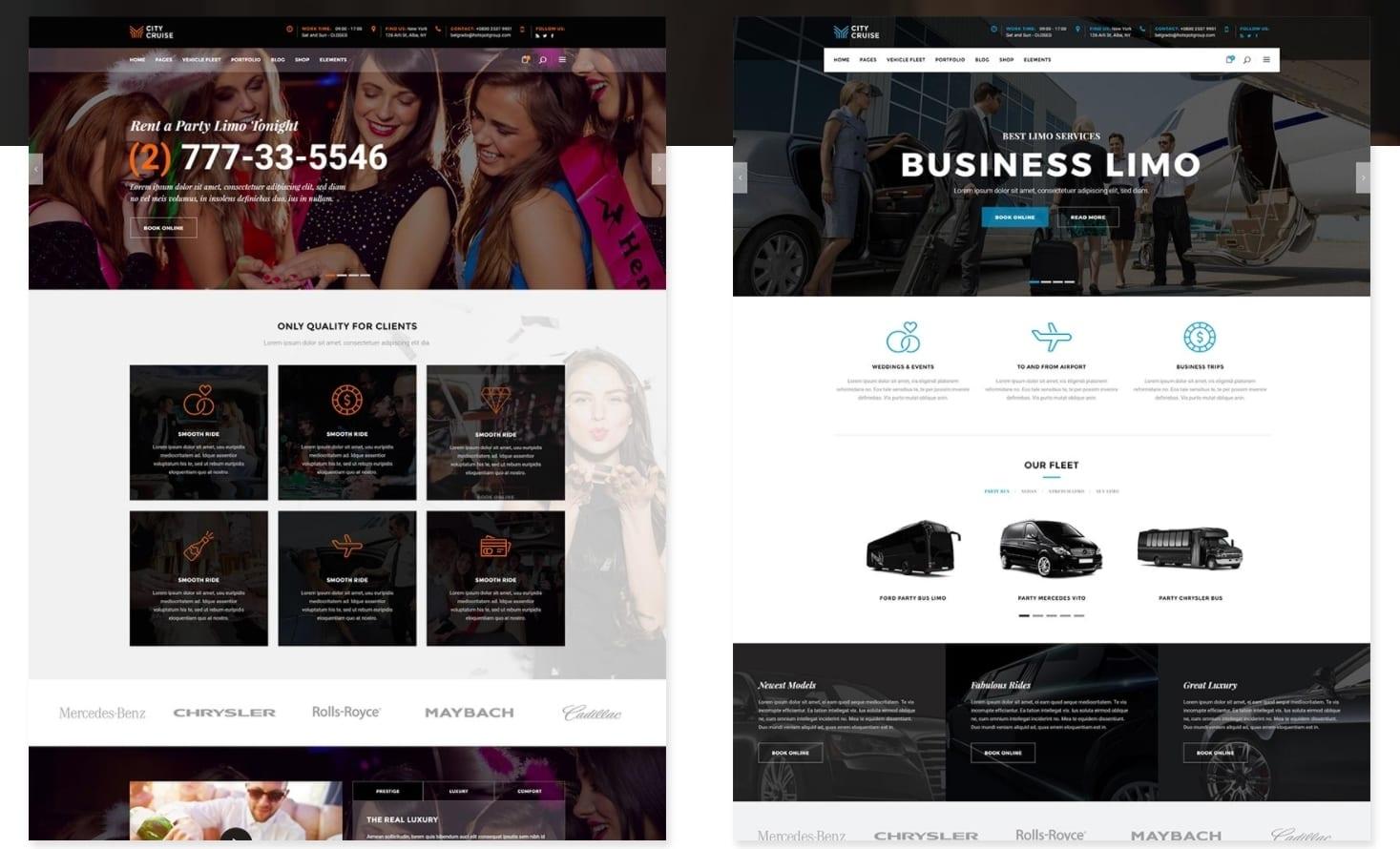 44d451c26c64 City Cruise – WordPress шаблон сайта аренды лимузинов и других автомобилей.  самые лучшие авто шаблоны ...