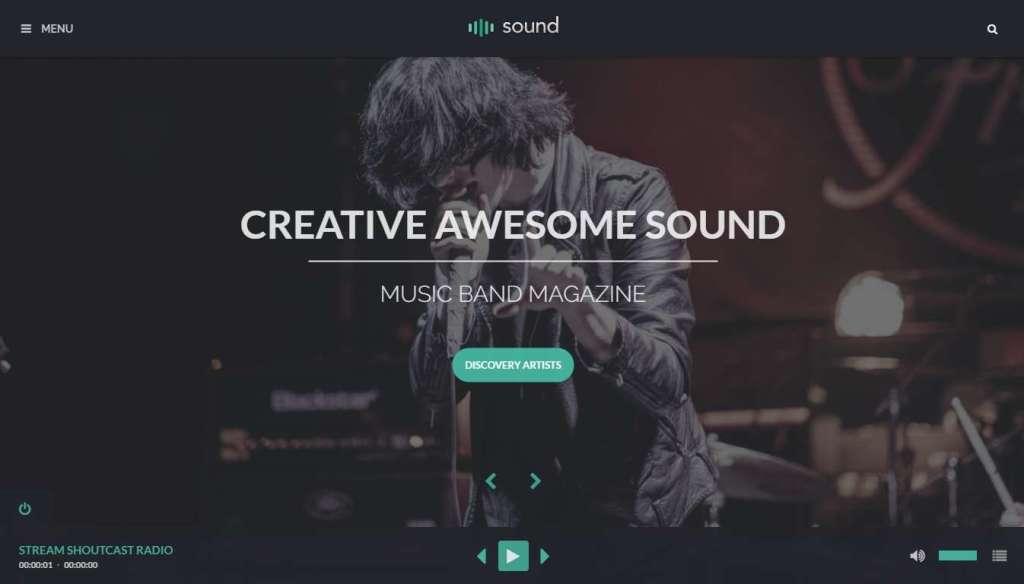 классные шаблоны музыкального сайта, подкастов и радио на WordPress 2016