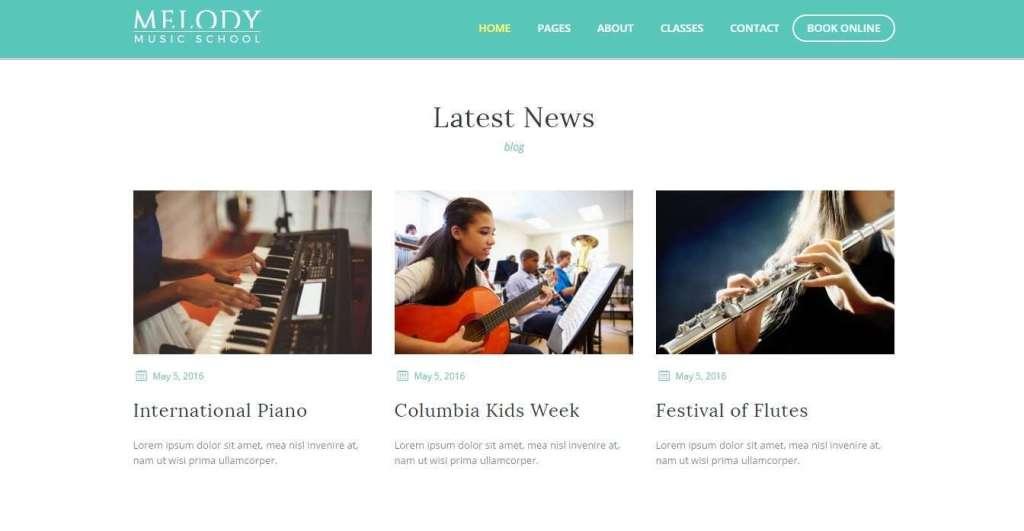 лучшие WordPress Шаблоны музыкальной школы с премиум дизайном 2017
