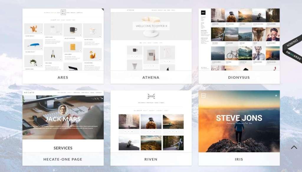 стильные шаблоны фотограф для WordPress - премиум дизайн и функции 2017