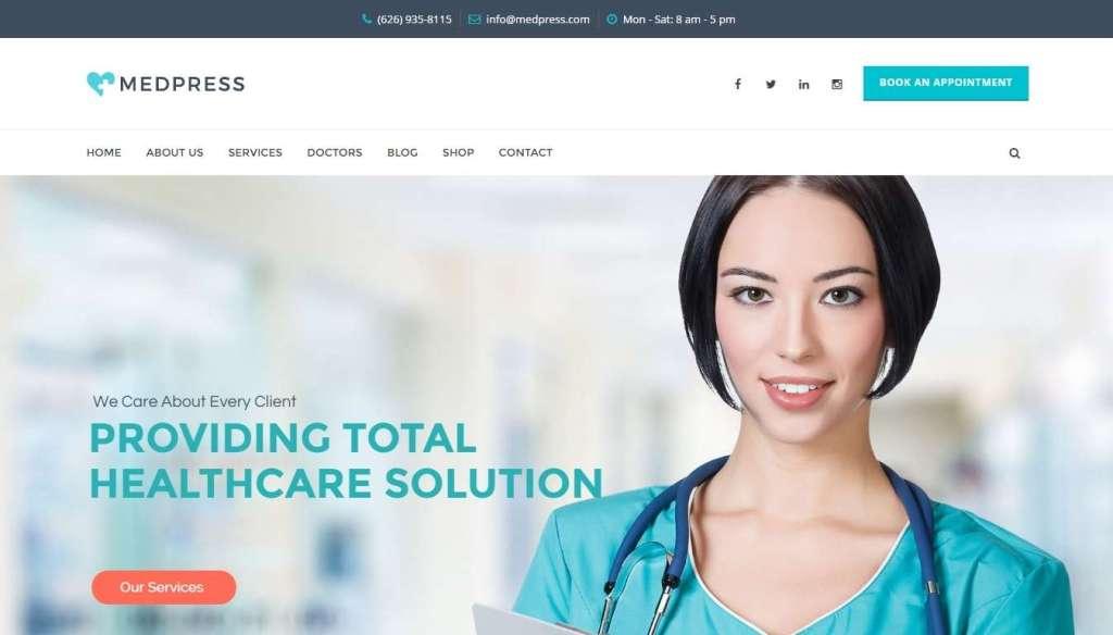 топ 10 WordPress шаблоны медицина 2016 02