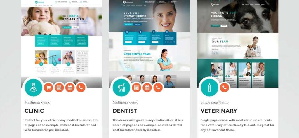 топ 10 WordPress шаблоны медицина 2016 04