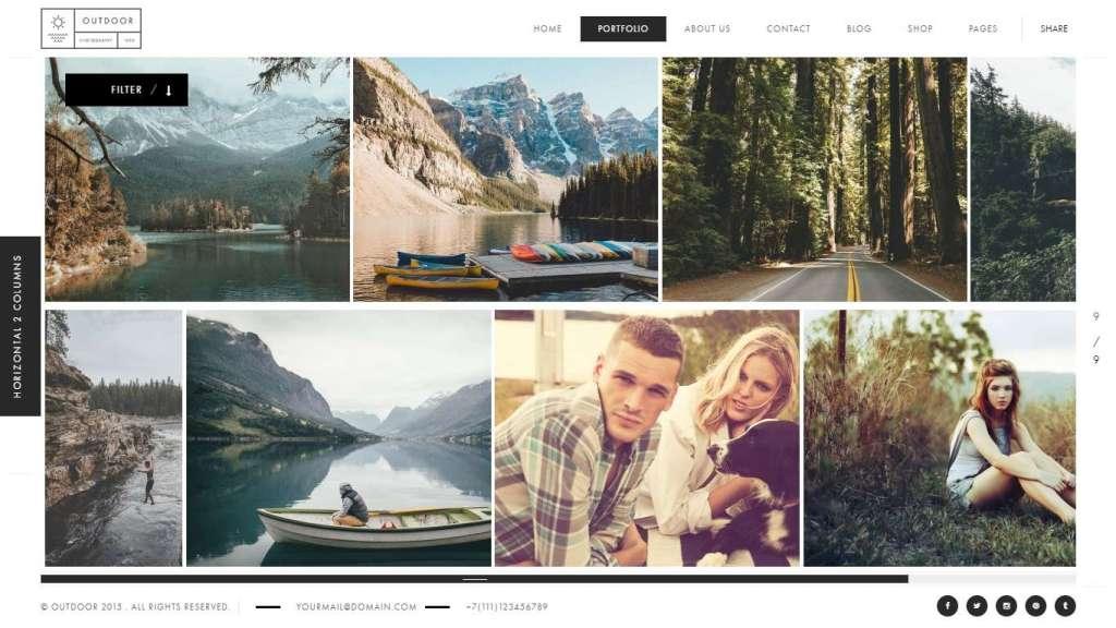 универсальные шаблоны фотограф для WordPress - премиум дизайн и функции 2017