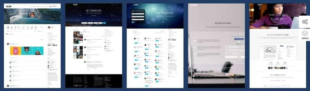 классные шаблоны социальной сети WordPress 2017