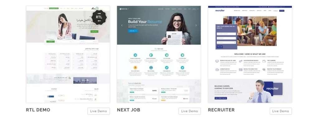 красивый шаблон сайта поиска работы или биржи труда на базе WordPress