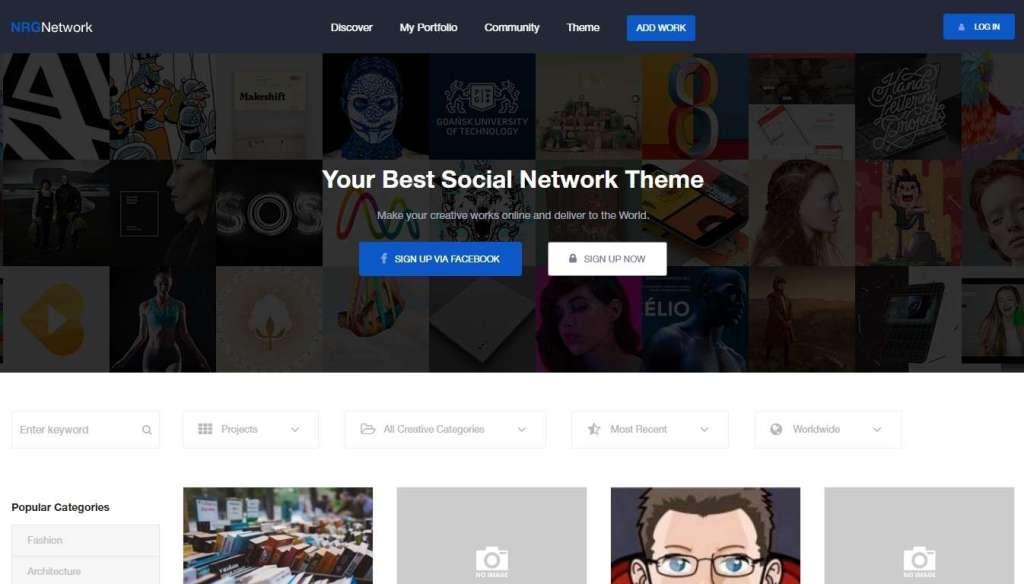 крутые шаблоны социальной сети WordPress 2017