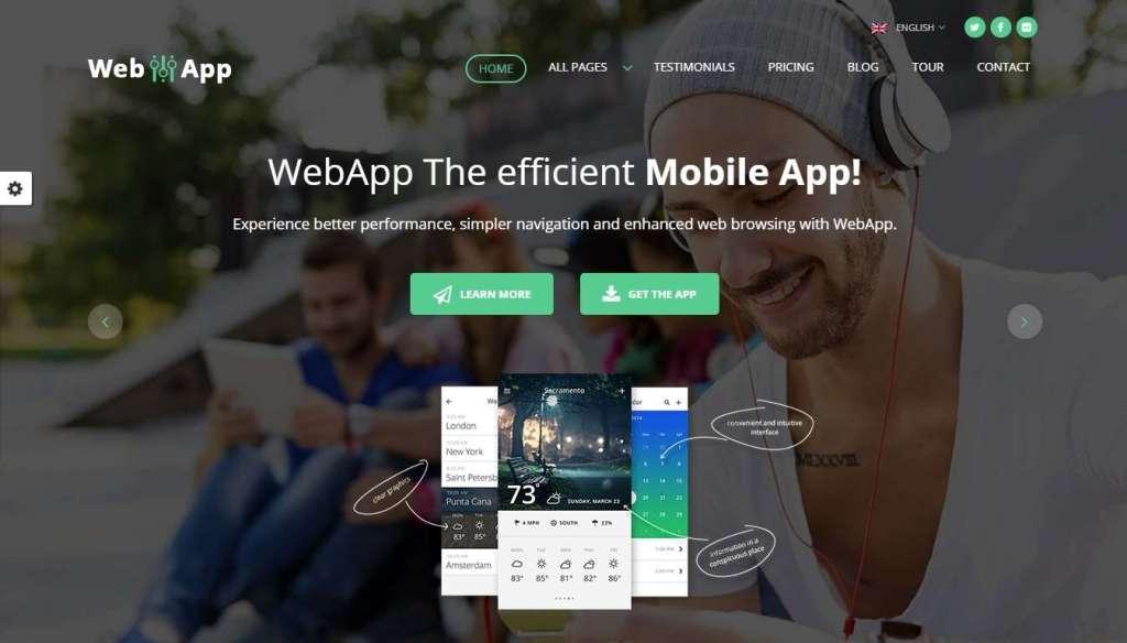 лучшие шаблоны сайта мобильного приложения 2017 3