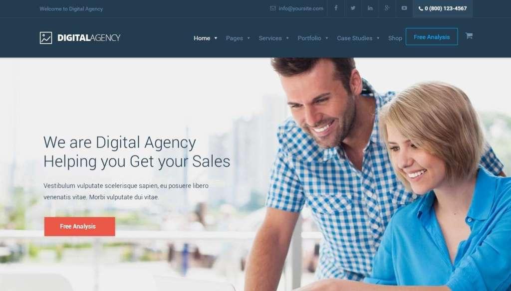 шаблон сайта рекламного агентства 2017 7
