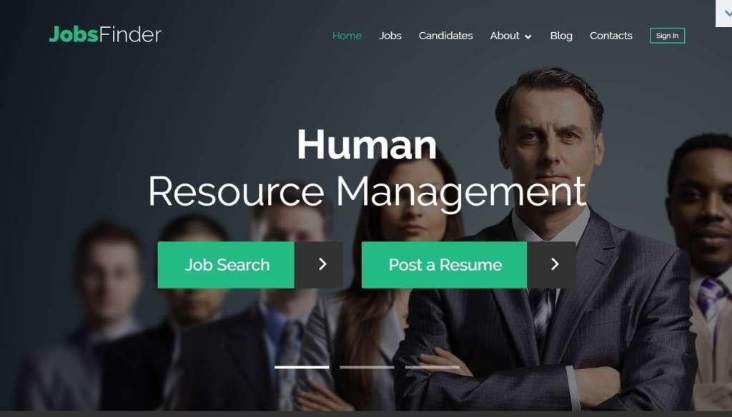 лучший шаблон сайта поиска работы или биржи труда на базе WordPress