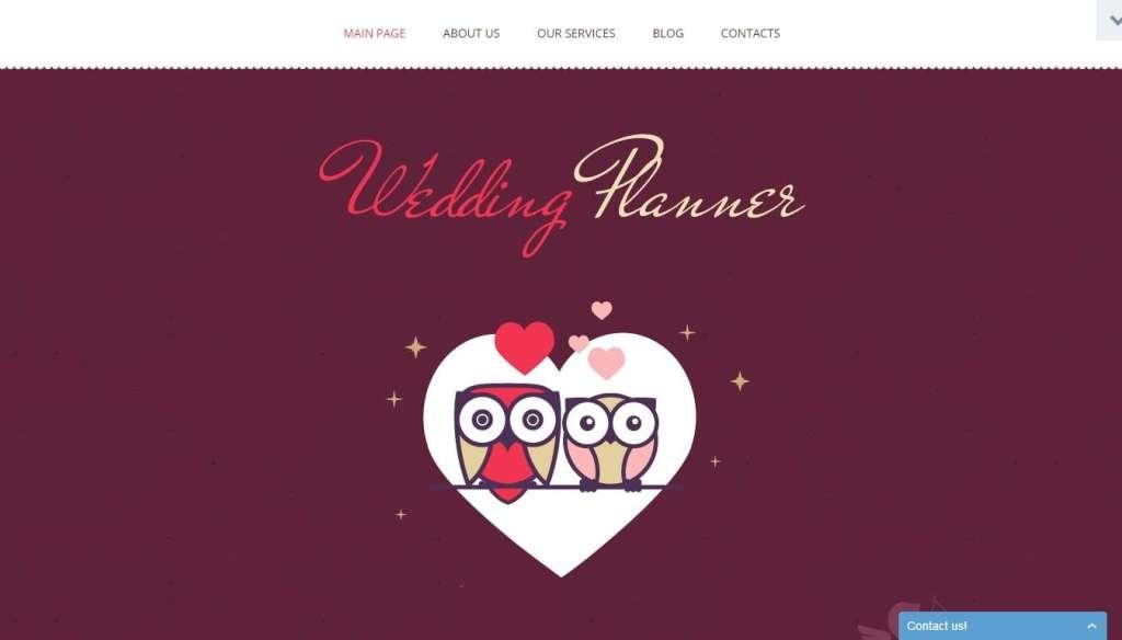 лучший шаблон сайта свадебного агентства 2017 5