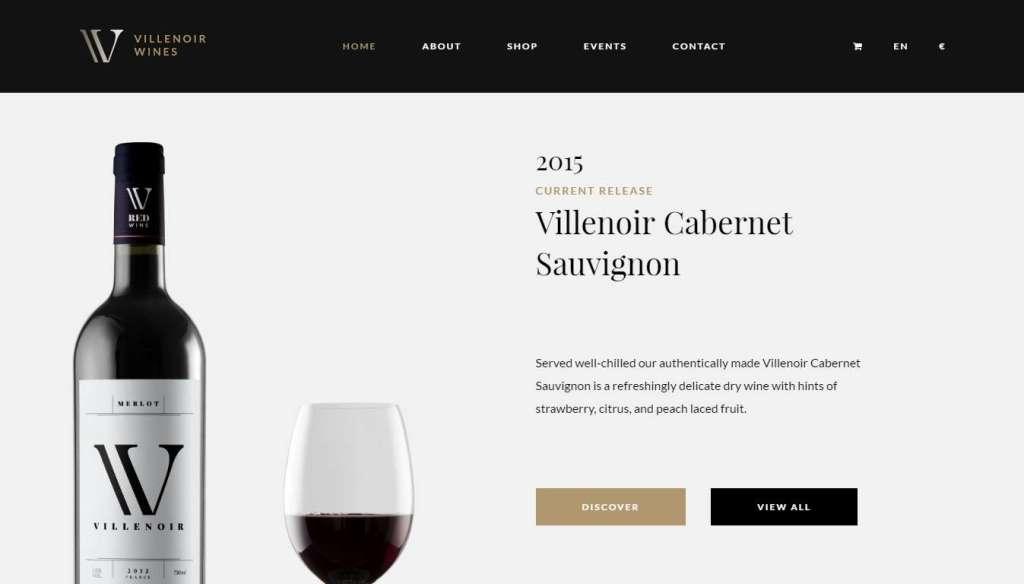 шаблон винный магазин - готовые Woocommerce интернет-магазины для виноделов 6
