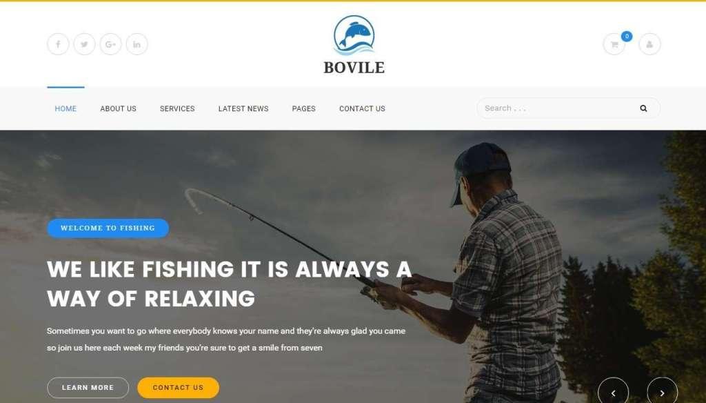 красивые шаблоны сайта рыбалка и интернет-магазина для рыбаков 2017
