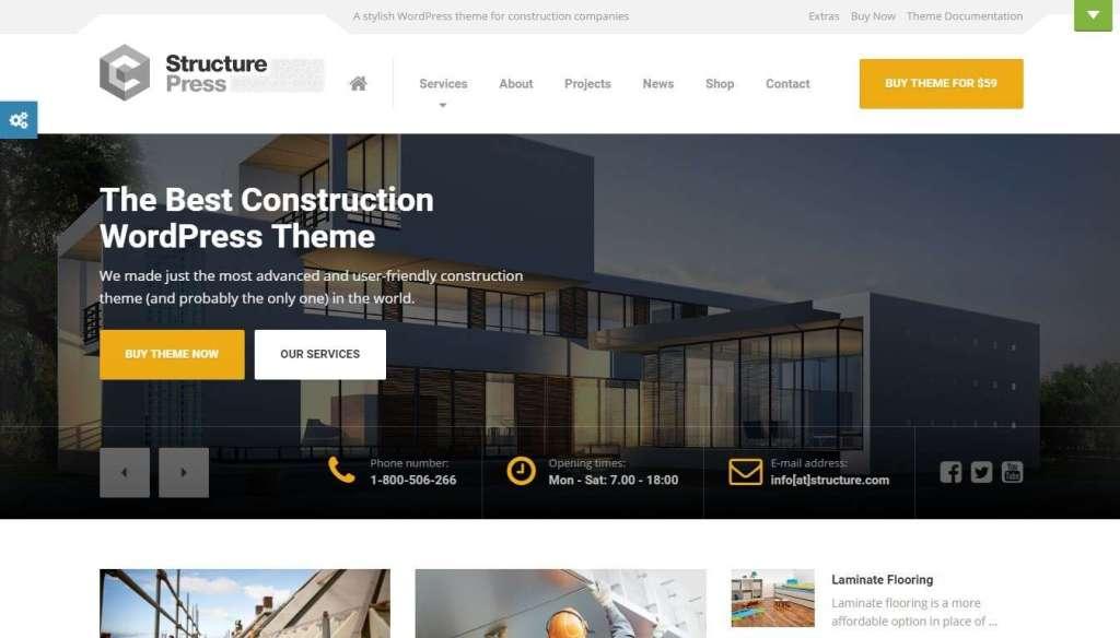 оптимизированные шаблоны сайтов строительство домов и ремонт