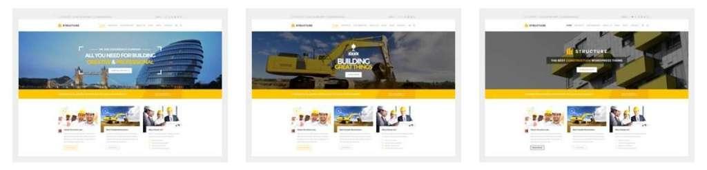 крутой готовый сайт строительство