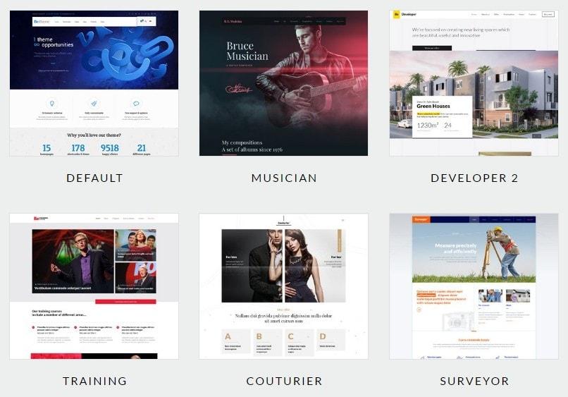 лучшие шаблоны готовых веб сайтов