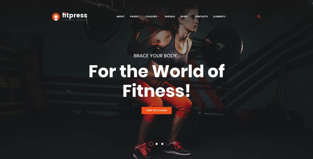Лучшие темы WordPress фитнес и спорт – Спортивные шаблоны 01