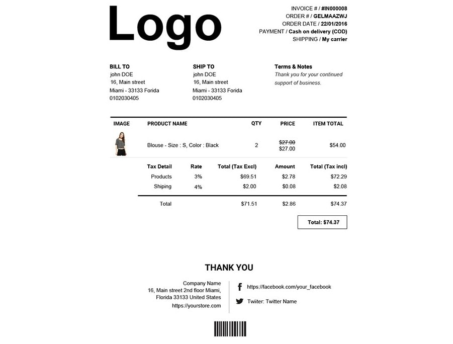 WooCommerce PDF счет для оплаты и отправки товара – Будьте спокойны 5